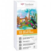 PENNARELLO DUAL BRUSH PEN SET 18 COLORI PASTELLO TOMBOW
