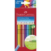 PASTELLI ACQUERELLABILI TRIANGOLARI COLOUR GRIP FABER-CASTELL