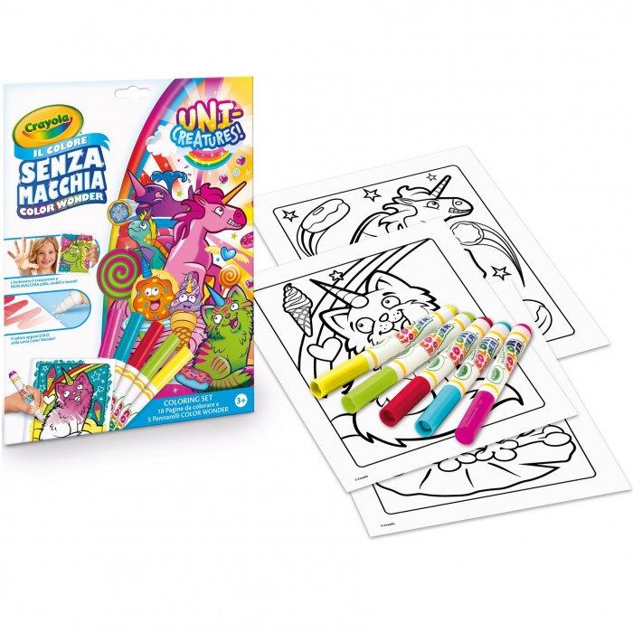 Attivita Creative Crayola Set Color Wonder Unicorno O Vampirina 18