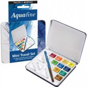ACQUERELLI AQUAFINE DEMI GODET SCATOLA TRAVEL SET IN METALLO DALER-ROWNEY